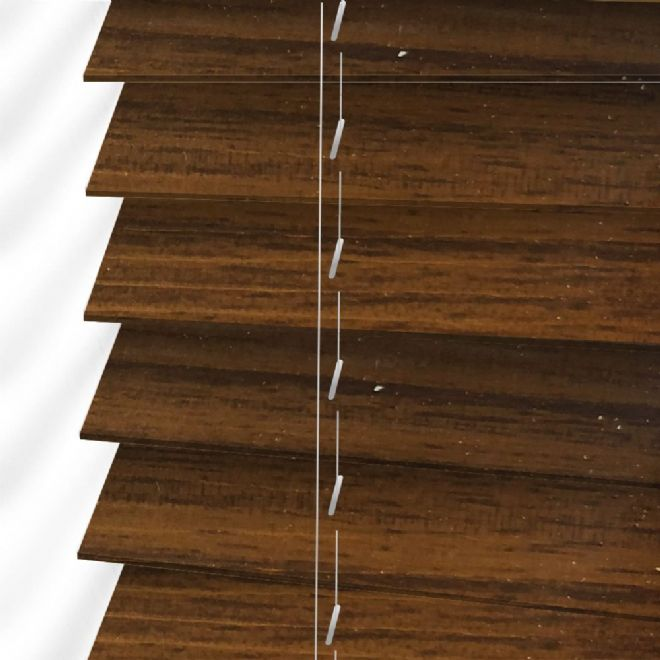 Faux Wood Venetian Blinds In Rustic Oak Deep Brown Just